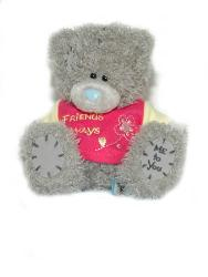 Мишка Tatty Teddy 15см - в футболке Friends Always