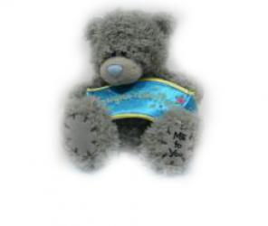 Мишка Tatty Teddy 15см - с плакатом Congratulations