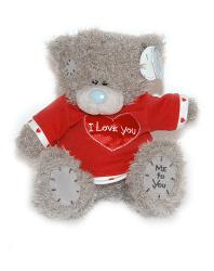 Медвежонок 20см Tatty Teddy - в красной футболке I Love You